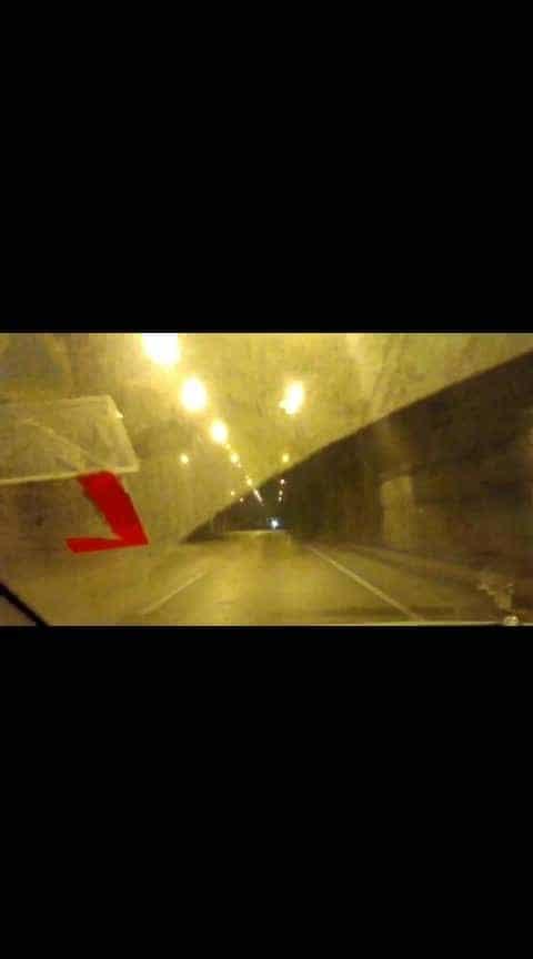 #mumbaipunehighway  #tunnellights  #tunnelview  #tripling  #travel-diaries  #travel-love  #adventure  #hindisongs  #ropo-msti