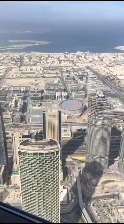 #top view of Dubai from #burjkhalifa
