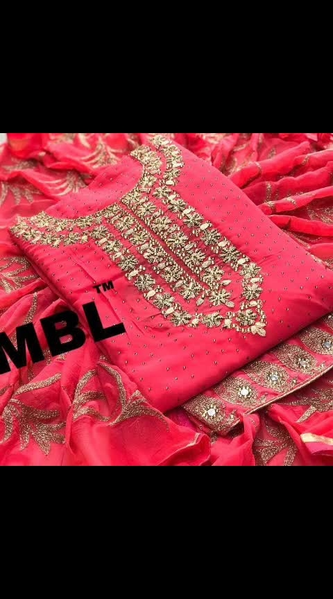 *MBL. Kasturi*       😭 *Be aware Of low quality*😭          *Price - 1250+Singal*                    Description:-   *Top Fox Georgette Full Soft*           Febric Best Qulety             Full Long 48+Hight    Full top Masinri Dimond Work         Daman Embroidry and         Dimond full Have work         Dupatta - Have Nazneen    With Full Dupatt Have Embroidy     Work with Fancy Dubal Lace                     Broder               *Cut 2.:10 Mtr*               Inner & Bottom          *Santoon total 4 Mtr*  👌*Product Qulety 100%Best*👌  🔷🔷🔷🔷🔷🔷🔷🔷🔷Nr