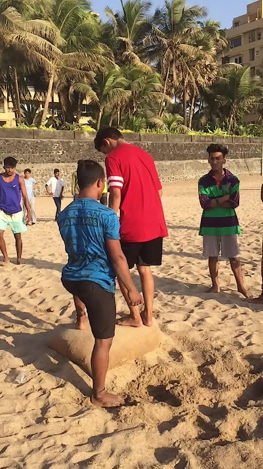 Double backflip in juhu OMG like please #roposo #doublebackflip #flip #stunt @roposocontests @roposotutorial @roposotalks #officialaccount