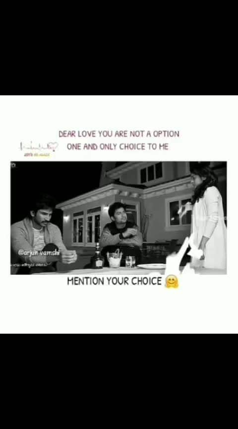 mention your choice
