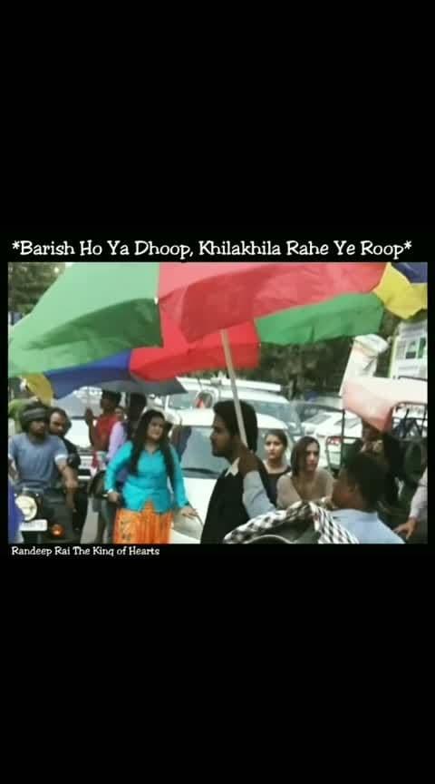 "The King 🤴 of Hearts ♥️#angelface @randeepraii ""*Barish Ho Ya Dhoop, Khilakhila Rahe Ye Roop*"". 😅 . . #thekingofhearts #kingofhearts  #RandeepRai #YehUnDinonKiBaatHai #RANDEEPRAII"