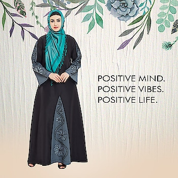 A perfect blend of modest style and classic silhouette, this black and grey abaya with floral print on the front and sleeves is just what you need for special occasions! Shop Now: https://bit.ly/2N6Ezve #abaya #hijab #traditionalclothing #outfits #muslimahchamber #frontopenabaya #muslimwomen #muslimgirl #hijabista #islamicwear #hijabfashion #hijabonline #hijabstyle #hijabootd #abayaindia #abayadress #abayamoden #abayalover #abayashop #abayafashion #embroideredabaya #blackabaya #blackhijab #hijabista #hijaboutfit #hijabmuslim #hijabi #islamicwear #islamicfashion #muslimahwear