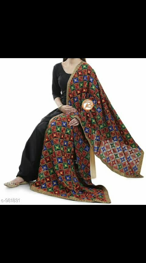 *Misa Zam Silk Phulkari Salwar Suits & Dress Materials Vol 9*  *TOP & BOTTOM*: Zam Silk + Solid (5 Mtr)   *DUPATTA* :  Chiffon + Jaal Embroidered Work  (2.3 Mtr)   *TYPE*:  Un Stitched  Easy Returns Available in Case Of Any Issue 1865 Only #phulkaridupatta #zamsilk #chiffondupatta #embroidery #embroideredsuit #shopwithus #buyitnow #thebazaar #cashondelivery #followusonroposo