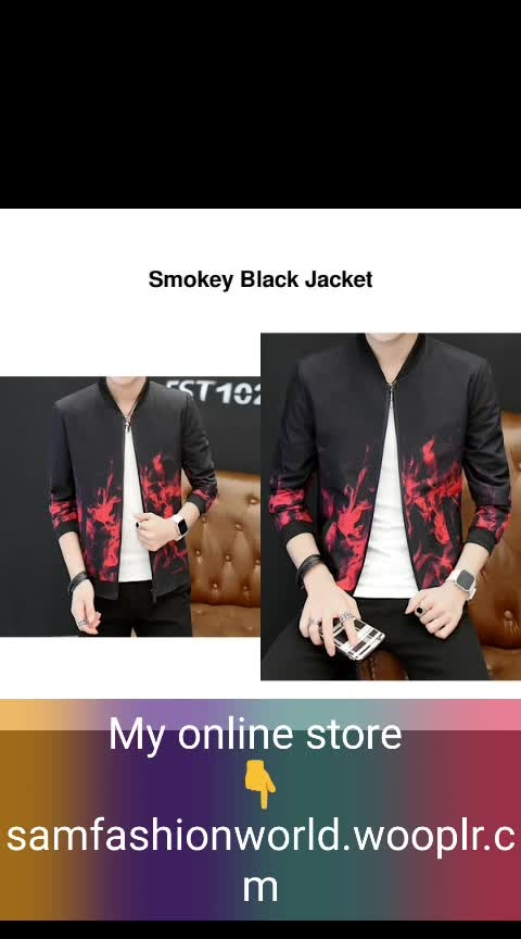 #wooplr #wooplrxyou #wooplrinfluencer #wooplristas #wooplrblogger    *[✈️ INTERNATIONAL ]* 👉 *Name*: Smokey Black Jacket 🔥 *Brand*: PaperRock ✏️ *Description*: Designed with an interesting print, this jacket will be your new favourite!  IMPORTANT: Please check the size chart image before placing the order. 😌 ✅ *Available Sizes*: S,M,L,XL,2XL ☺️ 🚚 *Delivery Time*: Delivers within 2-3 weeks  *%s - 100%% Return & Refund Policy *No COD charges