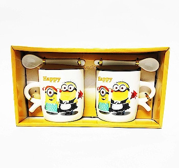 Chahat Gifts Happy 2Cup Set with Spoon  Rs: 299  If you are looking for a unique gift to, Brother / Sister, husband / Wife, Mother Father, Friends then our unique design printed mugs are the way to go.   https://amzn.to/2Gugez2