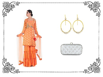 Try the latest sharara trend with matching accessories. The clutch bag will suit many outfits and look gorgeous too. Suit- https://vintagedesi.com/collections/new-arrivals-alpha-desc/products/citrus-golden-sharara-set  Clutch-https://vintagedesi.com/collections/shop-bags-clutches/products/the-all-silver-clutch  Earrings- https://vintagedesi.com/collections/jewellery-alpha-desc/products/belsis-hoop-bali-with-cz-diamonds . . . . . #sharara #partywear #kurti #salwarkameez #suits #anarkalisuit #dressmaterial #punjabisuit #fashion #garara #designerkurtis #gharara #indianwear #ethnicwear #style #onlineshopping #lehenga #selfiekurti #salwarsuits #boutiqueshopping #punjabi #saree #designersuit #trending #suit #anarkali #winterfashion #elegantdress