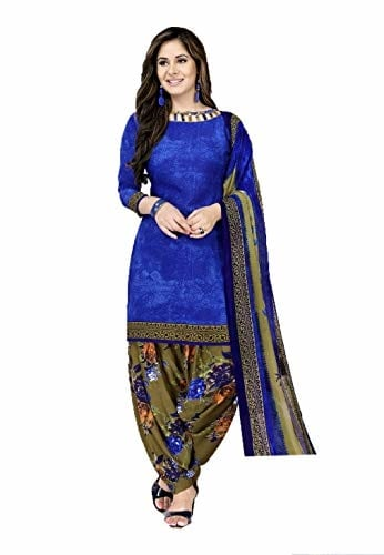 GiftsnFriends Women Crepe and Synthetic #Patiala #Suit Unstiched #Dress Material @ Rs.540. Buy Now at http://bit.ly/2SKPkcP