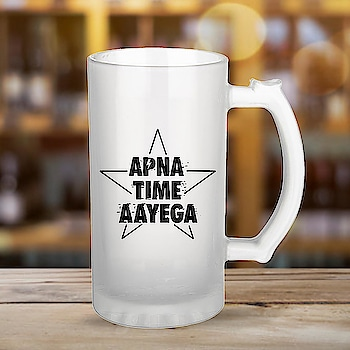 APNA TIME AAYEGA 📣  Quirky Quote printed beer mug - available for Rs.449 (free shipping for India). message ur address with pin code, email & Payment confirmation - Paytm - 9867002820 . #beer #beerlover #beers #beermug #giftideas #gift #giftforfriend #sunday #brew #brewery #quirky #quotes #giftforhim #mensfashion #mugs