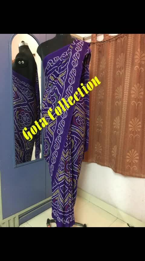 chunri bandhej saree WhatsApp @7042048350 to order now #gottapatti  #bandhej  #saree #designer-saree #elegant #stylishwear #fashion