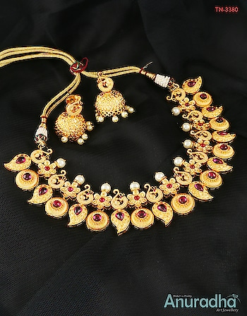 This festive wedding season Anuradha Art Jewellery brings to you wonderful traditional jewellery collection at best price.  To view more designs click on the link: http://bit.ly/2qqdkBz #ethnicjewellery  #Southindianjewellery  #templejewellery  #traditionalnecklace   #finejewelry   #highqualityjewelry  #designerjewelry  #uniquejewelry  #traditional  #womensfashion  #fashionjewellery  #partyjewellery  #weddingjewelleryset  #weddingjewellery  #exclusivejewelry #trendyjewellery