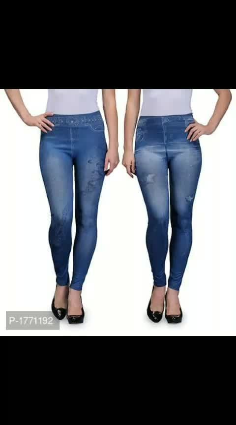 Get the Denim Look with these Blue Poly-Spandex Jeggings Combos at Lowest Prices from Top Supplier  *Fabric*: Polyester Spandex  *Type*: Jeggings  *Sizes*: S (Waist 30.0 inches)*: M (Waist 32.0 inches)*: L (Waist 34.0 inches)*: XL (Waist 36.0 inches)*: 2XL (Waist 38.0 inches)  *  *Delivery*: Within 6-8 business days  *Free & Easy Returns*: No questions asked    ⚡⚡ Hurry, 6 units available only*Check it Out:* https://myshopprime.com/collections/21448979