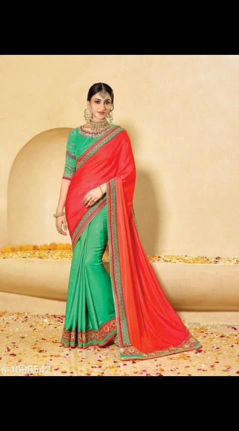 Mahesha fashion Fabric: Saree - Royal Silk / Royal Silk & Jacquard, Blouse - Royal Silk / Royal Silk & Jacquard  Size: Saree -5.5 Mtr Blouse - 0.80 Mtr  Work: Embroidery And Border @1499 COD available ship free 9⃣1⃣7⃣3⃣0⃣3⃣8⃣1⃣2⃣9⃣
