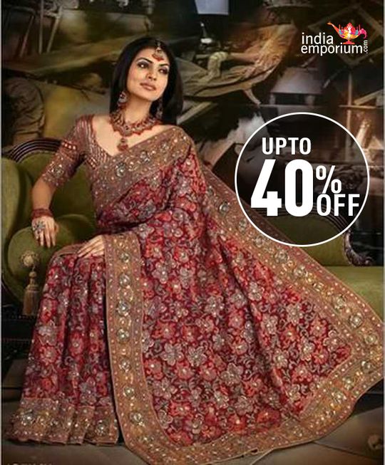 BRIDAL SAREES DISCOUNT OFFER  UPTO 40% OFF  ➡️ How to place order ?? *************************************** ☎ Whatsapp No: +91-885-135-6382 (US) +1-302-261-9333 📲 Live Chatting: https://goo.gl/ykhzjq ➡️ Visit Website : https://goo.gl/h3uVfK ➡️ Instagram : https://www.instagram.com/india_emporium_official/