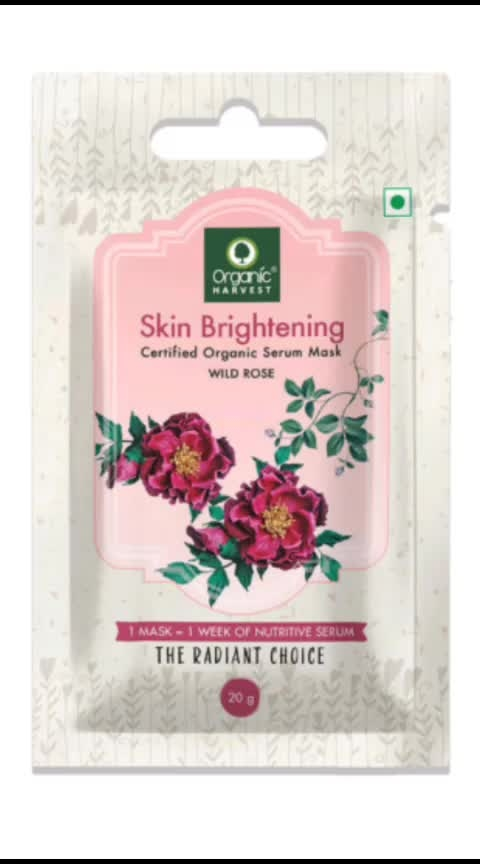 Introducing the newly launched Sheet mask from @oh_ind . . Organic Harvest has some really good and customer centric products, that will provide you the goodness of natutal without any harmful chemicals. . . Sheet Masks:- 1. Shine and Glow - Figs & gold dust. 2. Skin brightening - Wild rose . . Quantity and Price - 1. Sheet mask for Rs.99 . Impressions - 1. I have used the wild rose variant till now i truely loved it. 2. As soon as you apply the mask on your face, you will feel so cooling and refreshing.It did brigthen my face for a period. I would reccommed to add it in your daily skincare routine for best results. 3. There is a very mild and natural fragnance of wild rose in the mask. 4. One thing i noticed in this mask is that the serum is not sticky at all unlike other sheet mask available in market. 5. The quantity of the serum is good on the sheet mask, but at the same time there isnt extra serum in the packet. 6. Overall i really liked this product and would definately reccommed you to try them. . . #adorablewe #organicharvest #adorablewexorganicharvest #ohindia #sheetmask #wildrosesheetmask #skinbrightening #skunglow #beauty #skincare #glowingface #skincare #diy #sheetmask #kbeauty #jusztxde
