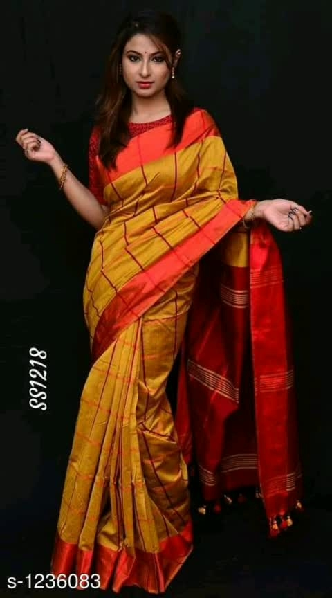 Jivika Pretty Silk Cotton Velvet Sarees Vol 1  Fabric: Saree - Handloom Silk, Blouse - Handloom Silk Size: Saree Length -5.5 Mtr, Blouse Length - 0.85 Mtr Pattern: Checkered Dispatch: 2 - 3 Days