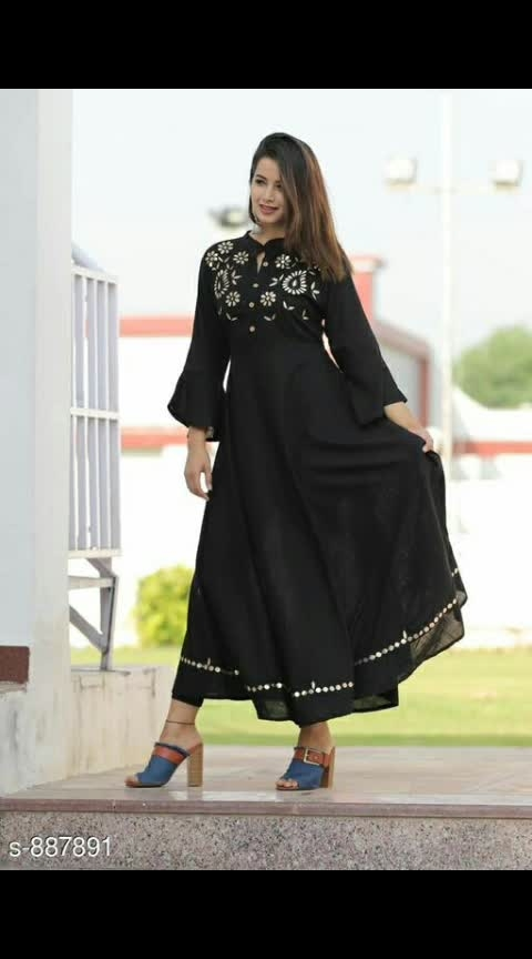 Classy Rayon Embroidery Kurti Fabric: Rayon  Sleeves: Sleeves Are Included Size: M - 38 in, L - 40 in, XL - 42 in, XXL - 44 in Length:  Upto 48 in  Work: Embroidery #rayon #rayonkurti #embroidered #embroiderywork #shopwithus #buyitnow #thebazaar #cashondelivery #followusonroposo