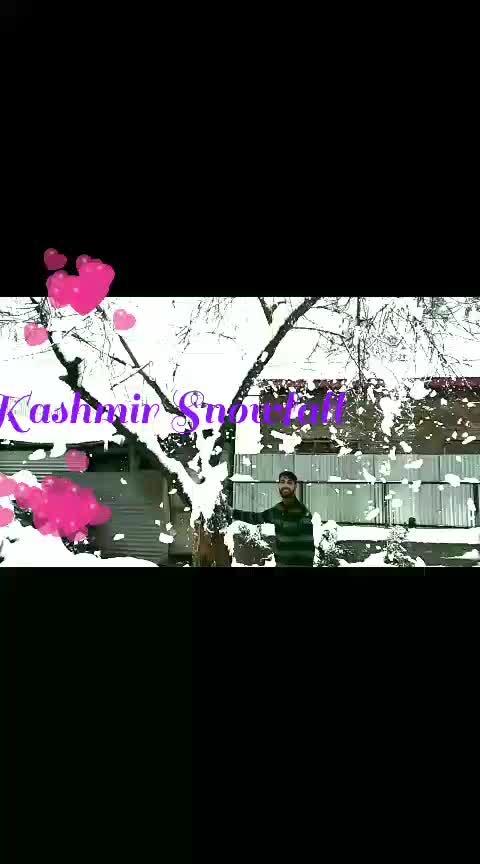 #kashmir #snowfall  #2k19