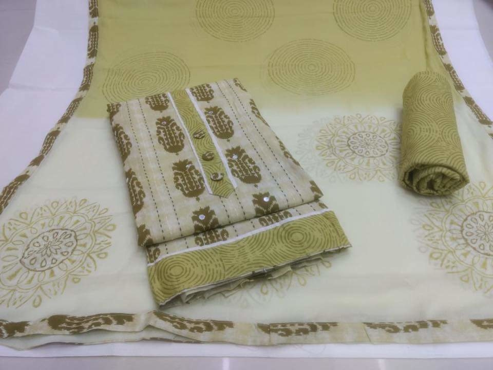 Classy Cotton Printed Dress Materials Grab them only For 1300/- ❣ To Order WhatsApp us (+91) 8097909000  Top- Cotton Printed  Bottom- Cotton Dupatta- Chiffon * * * * #salwar #salwarsuits #dress #dresses #longsuits #Pakistanisuits #suitsonline #embroidered #onlinefloralsuit #floral #printedsuits #printed #straightsuits #dupatta #designerdupatta