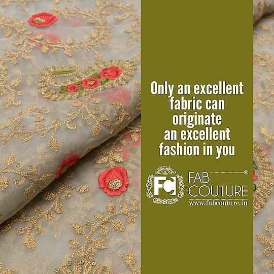 Only an excellent fabric can originate an excellent fashion in you... For shopping visit us : www.fabcouture.in  #FabCouture! #DesignerFabric #AffordablePrices #DesignerDresses #Fabric #Fashion #DesignerWear #ModernWomen #DesiLook #Embroidered #WeddingFashion #EthnicAttire #WesternLook #affordablefashion #GreatDesignsStartwithGreatFabrics #LightnBrightColors #StandApartfromtheCrowd #EmbroideredFabrics