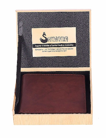 SUMANNYA Mens/Gents Brown Purse/Wallet with Elegant Wooden Box Genuine Leather Wallet This Men's wallet is neatly designed and made with SOFT and FIRM genuine leather. There are 6 in build Credit card slots,1 Secure Zipper Compartment, 1 Great Transparent I.D window for Driving License or Office I.D card, two Slip Pocket, 1 Coin Pocket , 2 Secret Compartment and 2 Currency compartment carrying all your needs with extra comfort while carrying. This wallet is ideal to gift your loved one and it comes with gift box. Package Contents-1 Men wallet  For purchasing click on this link:- https://www.amazon.in/dp/B07KG8PFHV?ref=myi_title_dp  #purse #wallet #walletformen