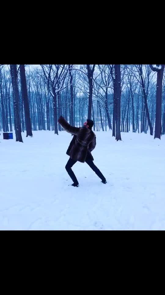 When it snows I Dance... #dance #snowdance #sandipsoparrkar #lovesnow #snowfall #newjersey #usa #india #indianinusa #furcoat #lovefordance