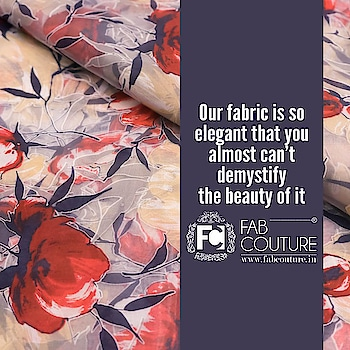 Our fabric is so elegant that you almost can't demystify the beauty of it....  For shopping visit us : www.fabcouture.in  #FabCouture! #DesignerFabric #AffordablePrices #DesignerDresses #Fabric #Fashion #DesignerWear #ModernWomen #DesiLook #Embroidered #WeddingFashion #EthnicAttire #WesternLook #affordablefashion #GreatDesignsStartwithGreatFabrics #LightnBrightColors #StandApartfromtheCrowd #EmbroideredFabrics