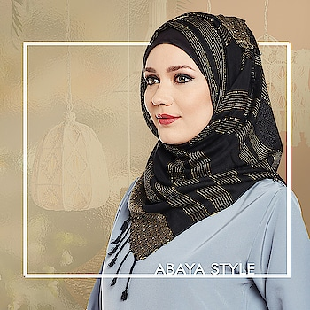 This classic black and gold hijab with alternate stripes design add the perfect amount of sophistication and elegance to a simple and plain abaya! Shop Now: https://bit.ly/2NucdLU #abaya #hijab #traditionalclothing #outfits #muslimahchamber #frontopenabaya #muslimwomen #muslimgirl #hijabista #islamicwear #hijabfashion #hijabonline #hijabstyle #hijabootd #abayaindia #abayadress #abayamoden #abayalover #abayashop #abayafashion #embroideredabaya #blackabaya #blackhijab #hijabista #hijaboutfit #hijabmuslim #hijabi #islamicwear #islamicfashion #muslimahwear