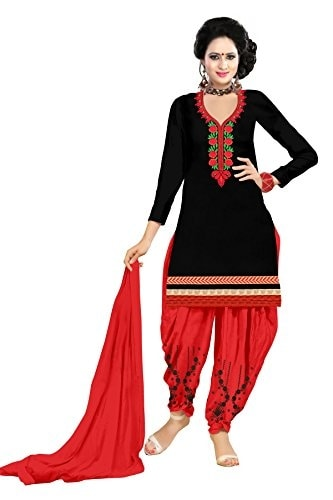 Alazra Creation Women Cotton Unstitched #Patiala #Suit @ Rs.499. Buy Now at http://bit.ly/2Nu7nOo