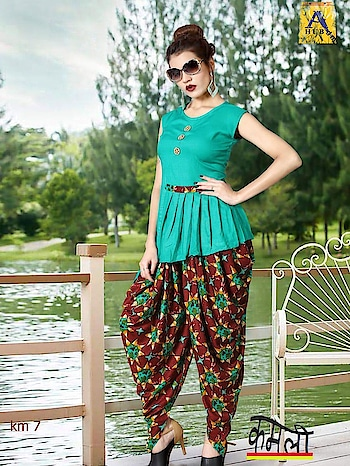 KAMLI INDO WESTERN DHOTI STYLE DRESS  Link: https://www.bebofashions.com/portfolio/kamli-indo-western-dhoti-style-rayon-fabric-ready-to-wear-top-bottom-collection-online-wholesale-rates-bebo-fashions/  WE DELIVER WORLDWIDE		 	 FOR Bookings: WhatsApp: https://goo.gl/V3cDiT   Call: +91 9408469226 	 Visit www.bebofashions.com for more collection 	 Thanks & Regards, Bebo Fashions   #bebofashions #exporter #wholesaler #supplyofdesignersuits #pakistanisuits #anarkalisuits #banarsisaree #partywearsaree #patiyalasuits #bollywoodstylesuits #straightsuits #plazosuits #weddinglehngas #bridaldresses #bestwholesalerates !!!!  #worldwide #uk #usa #malaysia #mauritius #jordan #dubai #egypt #hongkong #southafrica #singapore