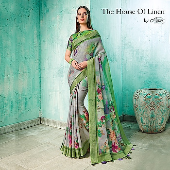 "Our trending collection of ""Neisha"" will add all the needed grace and sparkle to your classy look!  Buy now>> http://bit.ly/2U3zxCz  #aurasaree #designersarees #designerblouses #blouses #thehouseoflinen #traditional"