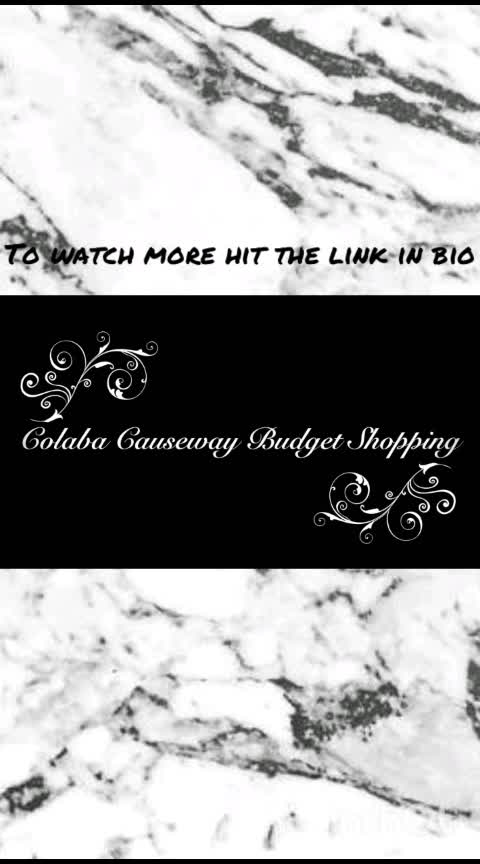 Are you on the lookout for stylish yet affordable clothes? Do you feel that you spend a lot in clothing and want to save some money? Are you a college goer and looking for under 500 outfits? Then you must watch my new video .It is an affordable colaba causeway haul . https://www.youtube.com/watch?v=7jiK91oGLpY  #colabahaul #colabacausewayhaul #colabacausewayshopping  #colabahaul2019 #colabacausewayjewellery #streetshoppingchallenge #affordableclothing