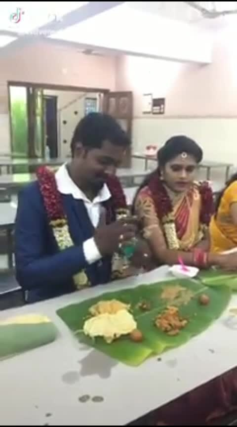 confused couple..😂😂  #ropo-post #funny #weddings #justmarried #tamil #indian #drinks #wine #water  #brandy #alcohol
