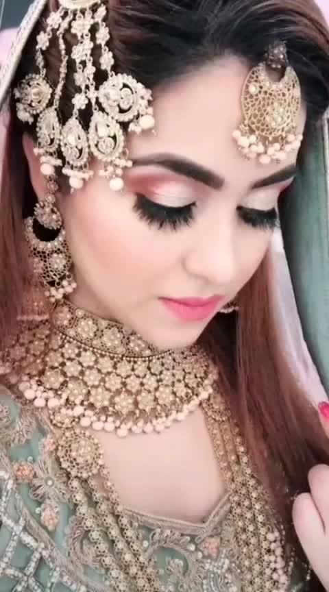 Awesome Bridal Makeup💕💕💕💕💕💕  #rangolichannel #featurethisvideo #roposovideoeffect #celebrationchannel #bridalmakeup