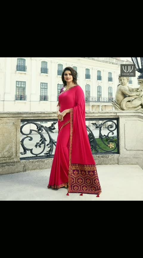 Buy Now @ http://bit.ly/VJV-VINA20135  Prachi Desai Hot Pink Color Silk Designer Saree  Price- ₹3,200.00  Fabric- Silk  Product No 👉 VJV-VINA20135  @ www.vjvfashions.com  #saree #sarees #indianwear #indianwedding #fashion #fashions #trends #cultures #india #instagood #weddingwear #designer #ethnics #clothes #glamorous #indian #beautifulsaree #beautiful #lehengasaree #lehenga #indiansaree #vjvfashions #pretty #celebrity #bridal  #styles  #stylish #bollywood #sari