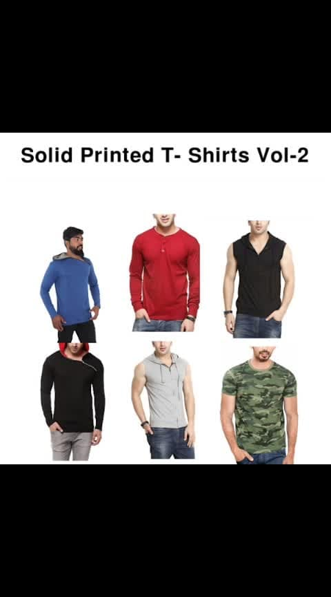 Solid Printed T-shirts Vol.2 - #fashion #style #stylish #love #photography #instapic #me #cute #photooftheday #nails #hair #beauty #beautiful #instagood #pretty #swag #pink #girl #eyes #design #model #dress #shoes #heels #styles #outfit #purse #jewelry #shopping
