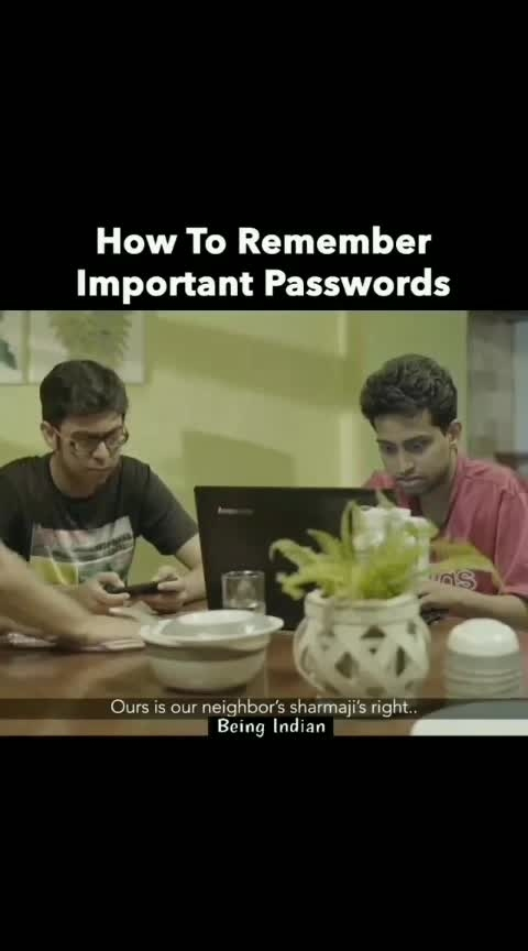 #didi  ho to aisi  #how  to remember important password 👩🏭👩🏭 #genious  dee #roposo-hahatv