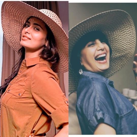 #candid #shots #bollywood #actress #meenakshidixit #monashroff #monashroffjewellery #indiaintimatefashionweek #openingshow #fashionweek