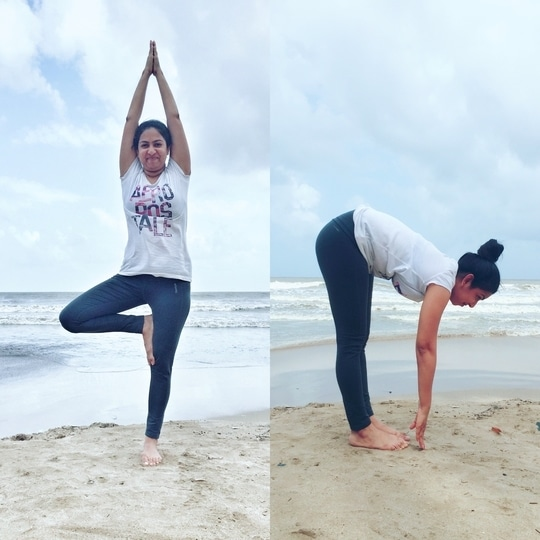 The Style Sculpt   Neha lonari   On the this international yoga day breathe in positivity and breath out negativity   #yoga #yoga4roposo #yogaday #roposo #roposoblogger #trendy #trendsetter #blogger #fashion #fit #fitness
