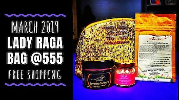 Lady Raga March 2019 | Disappointed? | Honest Review  March 2019 Lady Raga Bag contains some great skincare products from quite good brands. I have infant tried most of them earlier and loved them a lot! So was definitely happy to receive them. I also loved the earrings and even the golden pouch! However, I wasn't very happy with the Makeup product added this month. I have shared my honest opinion about it in the video and why so. Nevertheless, this edition is definitely value for money as I loved everything else! . . . Check out the unboxing and honest review video on my YouTube channel to know more. Link in bio! 💕 . . . To Order : https://www.ladyraga.com/ Price - Rs. 555(Free Shipping) . . . . #ladyragabag #ladyragaindia #march #2019 #basics #organic #bodycare #essentials #skincare #jewellery #beautysubscription   #monthlysubscription #unboxingandreview  #subscriptionreviews #honestreviews #subscriptionboxindia #subscriptionboxreview #youtuber #sonammahapatra #sonameraki