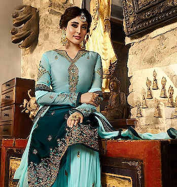 Embroidered Designer Sharara Suits for perfect wedding occasions...😍 Price:- 4790/- For Order/Price What-app us (+91) 8097909000 * * * * #salwar #salwarsuits #dress #readymadegown #readytowear #dresses #longsuits #suitsonline #embroidered #onlinefloralsuit #floral #fashion #style #palazzosuits #shararastylesuits #classy #designer #partywear #partyweargown #exclusively