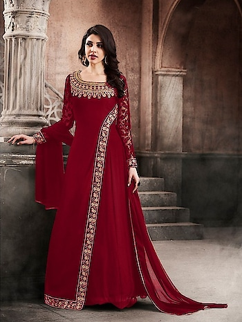 Partywear New Designer Georgette Long Gown Suits...🎀 Price:- 3190/- For Order/Price What-app us (+91) 8097909000 * * * * #salwar #salwarsuits #dress #readymadegown #readytowear #dresses #longsuits #suitsonline #embroidered #onlinefloralsuit #floral #fashion #style #gown #gowns #classy #designer #partywear #partyweargown