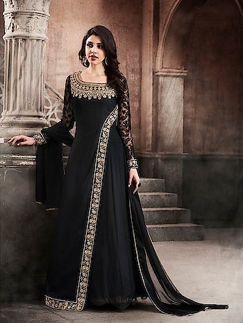 Partywear New Designer Georgette Long Gown Suits...🎀 Price:- 3190/- For Order/Price What-app us (+91) 8097909000 * * * * #salwar #salwarsuits #dress #readymadegown #readytowear #dresses #longsuits #suitsonline #embroidered #onlinefloralsuit #floral #fashion #style #gown #gowns #classy #designer #partywear #partywear_gowns