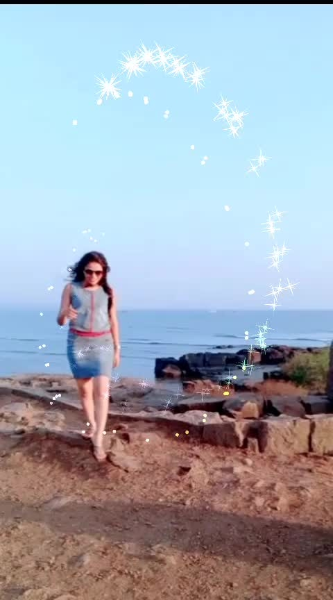 #terebinajina 😍 #ishq 🔥 #fort #beach #roposostars #slowmotion #twirl #poojajaiswal
