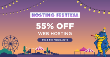 Hostgator India #Hosting Festival | Save Upto 55% On Web Hosting Plans: http://bit.ly/2EvtErc  Limited Period Offer on all hosting plans, including Shared, #WordPress, #Cloud, #Reseller & #VPS Hosting. Use Coupon HGFESTIVAL & Get Upto 55% Off On 6 Months & Above Tenure: http://bit.ly/2RFh7pO