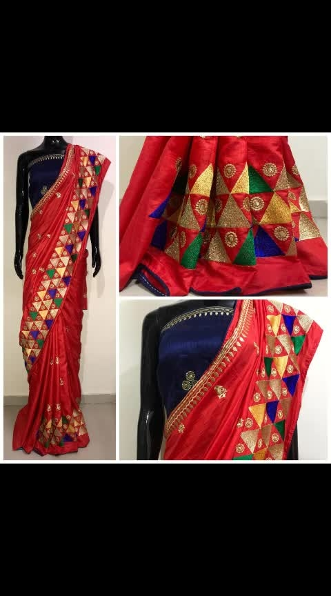"*#Fabrics  :Heavy Sana Silk With Exclusive🔺""TRIANGLE"" 🔺 Work With Out Side Piping Lace and heavy banglori work blouse*  *Sarees Lenght    :5.5 Meter* *Blouse    :0.8 Meter*  *Price:910/-⭐⭐⭐⭐⭐* Shipping Cost Extra  *✈Ready To Ship✈*"