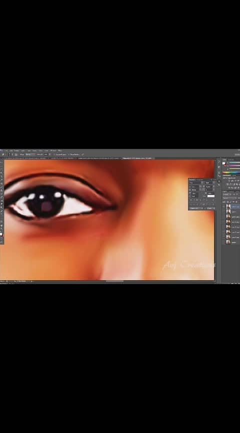 Photoshop smudge painting Effects