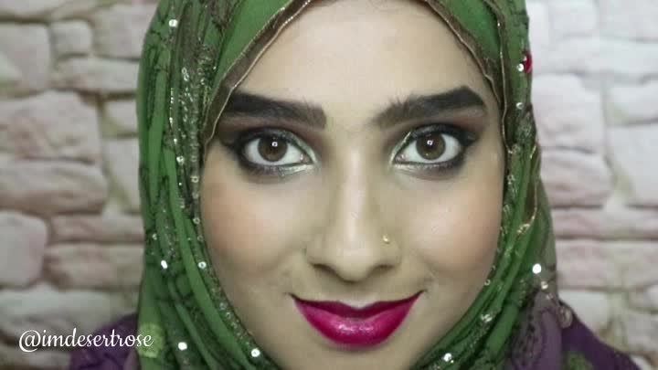 It's wedding season and so here is a glam makeup for all of you which is also wuzu friendly. Tutorial is up on my channel, click this link https://youtu.be/EwM9DeReCOI . . . . . #glammakeup #partymakeup #wedding guestmakeup #crueltyfree #wudhufriendlymakeup