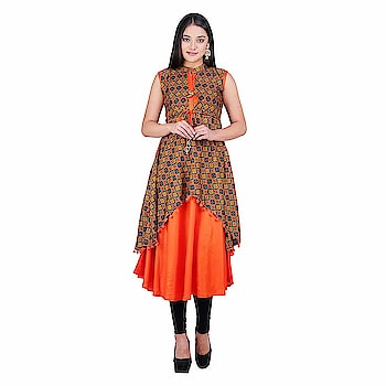 Khadi Village India Women's Rayon High Low Kurti   Care Instructions: Hand Wash Cold, Gentle   Do not Bleach   Tumble Dry, Low Heat   Iron, Low Heat   Back Side Ironing Material: Rayon : Color: Orange Neck Type: Collar Neck; Sleeve Type: Sleeveless; Item Length: Calf Long Package Contents: 1 High Low Kurti, Best Suited as Work Wear. Team it with a pair of Denims or Trousers and a light Jacket of Contrast Color for Sober yet Stylish Rich Look Colour Declaration : There might be slight variation in the actual color of the product due to different screen resolutions.  Buy Now :- https://amzn.to/2NLkdIr  #kurti #kurtiforwomen #womenskurti #casualkurti #formalkurti #rayonkurti
