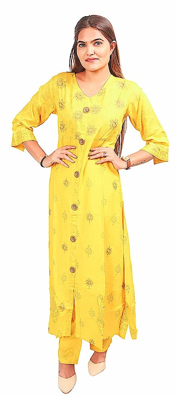 N's Boutique Cotton Yellow Long Kurti with Pant for Women   N's Boutique is a women's ethnic and fusion wear value brand. Our range is sharply priced and offers an array of products across solids, prints. We offer the right blend of quality, style and value aimed to delight our customers.     Buy Now :- https://amzn.to/2TssoPh   #kurti #kurtiforwomen #womenskurti #casualkurti #formalkurti #ethnicwear #fusionwear